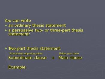 Argumentative Writing: PowerPoint