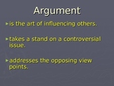 Argumentative Writing: PowerPoint