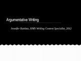 Argumentative Writing PowerPoint for Students