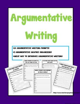 Argumentative Writing Prompt Activities