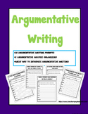 Argumentative Writing Prompt Activities