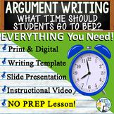 Argumentative Writing Middle School w/ Graphic Organizer, Rubric, Video  Bedtime
