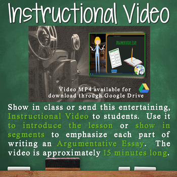 Argumentative Writing Lesson / Prompt w/ Digital Resource – A Donation for Youth