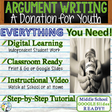 Argumentative Writing Middle School  Graphic Organizer Rubric Donation for Youth