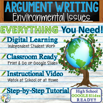 Argumentative Writing Lesson / Prompt w/ Digital Resource – Environmental Issues