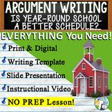 Argumentative Writing Middle School  Graphic Organizer, Rubric Year Round School