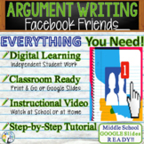 Argumentative Writing Lesson / Prompt – with Digital Resource – Facebook Friends