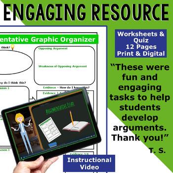 ARGUMENTATIVE / ARGUMENT WRITING PROMPT - Homework Limits - Middle School