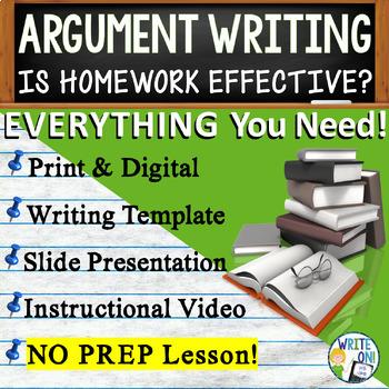 ARGUMENTATIVE / ARGUMENT WRITING PROMPT - Homework Limits