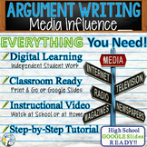 Argumentative Writing Lesson / Prompt – with Digital Resource – Media Influence