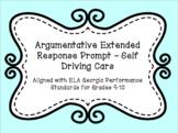 Argumentative Writing Prompt - Self-Driving Cars