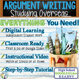 Argumentative Writing with Essay Graphic Organizer, Rubric - Studying Overseas
