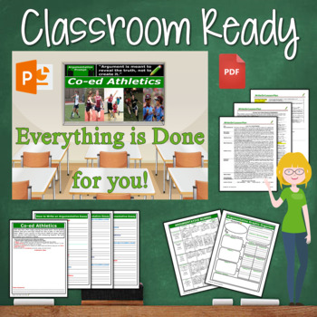Argumentative Writing Lesson / Prompt – with Digital Resource – Co-ed Athletics