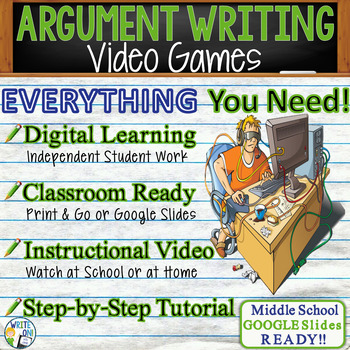 Argumentative Writing Lesson Prompt with Digital Resource       Video Games
