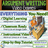 Argumentative Essay Writing Prompt   Playing Video Games   Print and Digital