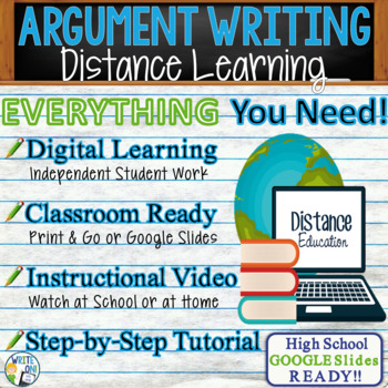 Argumentative Writing Lesson / Prompt – with Digital Resource – Virtual School