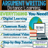 Argumentative Writing Essay Prompt | Remote Learning | Print and Digital