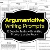 Argumentative Writing Prompts