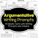 Argumentative Writing Prompts