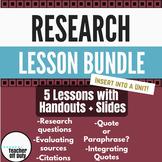 Argumentative Writing: Research Lesson Bundle