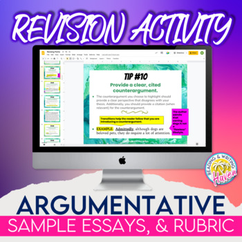 High School Argumentative Essay Examples  My Mother Essay In English also Proposal Essay Template Argumentative Writing Revising Points Rubrics And Example Essays How To Write Essay Papers