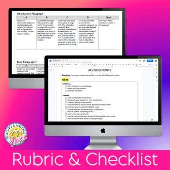 Argumentative Writing Revising Points, Rubrics, and Example Essays