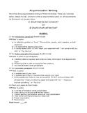 Argumentative Writing Rubric + Student Example