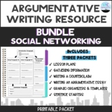Argumentative Writing Social Media Bundle Packet
