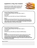 Argumentative Writing: THESIS STATEMENTS