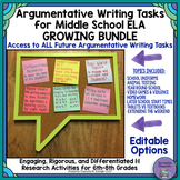 Argumentative Writing Tasks for Middle School ELA Bundle