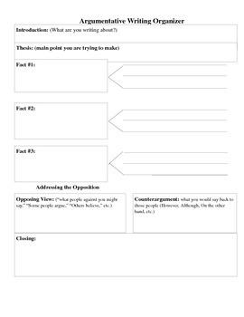 Argumentative Writing (Text, Prompts, & Graphic Organizer)