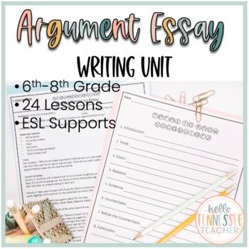 Argumentative Writing Unit: 20-day Argumentative Unit Grades 6-8 (CCSS Aligned)