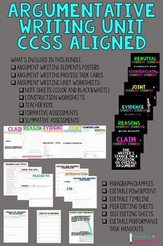 Argumentative Writing Unit Bundle - CCSS Aligned