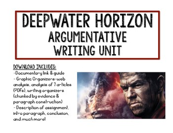 Argumentative Writing Unit: Deepwater Horizon Disaster