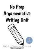 Argumentative Writing Unit Flipbook