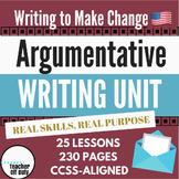 Argumentative Writing Unit - Middle School