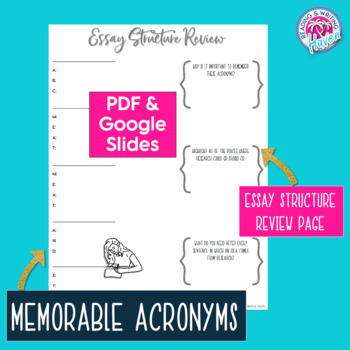 Argumentative Writing Unit Test and Graphic Organizers