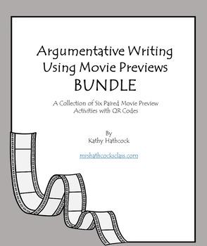 Argumentative Writing Using Movie Previews BUNDLE