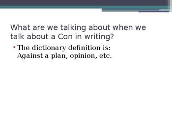 Argumentative Writing What are Pros and Cons PPT