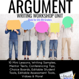 Argumentative Writing Workshop Unit for Middle School