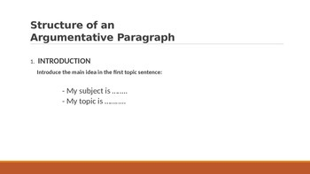 IR Argumentative Writing - how to write a paragraph?