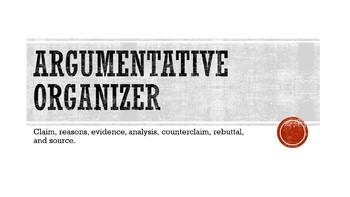 Argumentative paper graphic organizer
