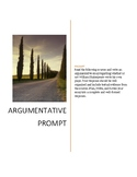 Argumentative prompt, articles, and rubric.
