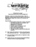 """Argumentative writing """"All Summer in a Day"""""""