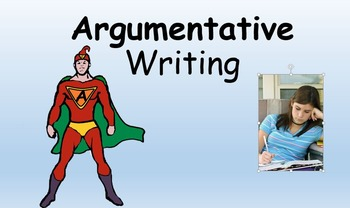 Argumentative Writing Powerpoint with insert for an interactive notebook