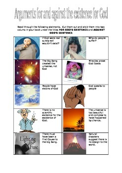 Arguments For and Against the Existence of God