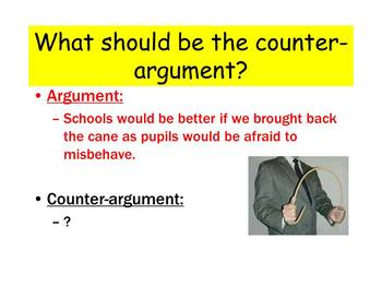 Arguments and counter-arguments