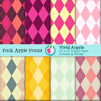Argyle: Digital Paper Texture Set