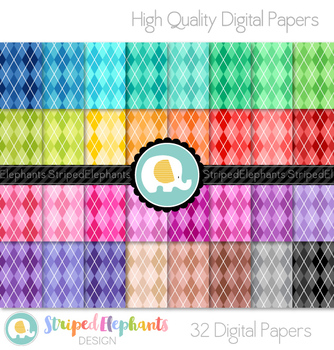 Argyle Bright Digital Papers