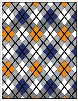 Argyle - Diamond Pattern Printable Digital Paper {Messare Clips and Design}
